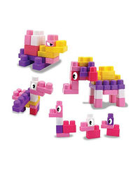 "Sunta: Blocks - 42Pcs Pink (In Pvc Bag With Handle) Packing Size: 8.66"" Lx3.93"" Wx9.84"" H (Jumbo Blocks) , Age 3+"