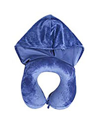 Travel Blue Hooded Neck Pillow