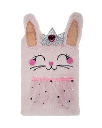 Pink Rabbit Plush Notebook, mix