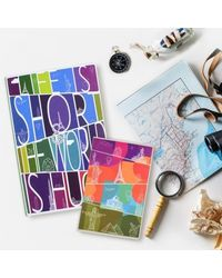 Wonderful World Twin Notebook, multicolour