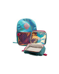 Hamster London Shiny Shell Backpack With Lunch Bag, mix