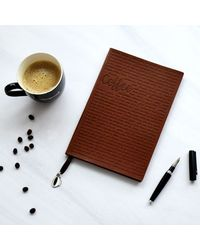 Coffee Therapy Notebook, brown