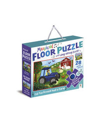 Musical Floor Puzzle With Sing-Along Book, na