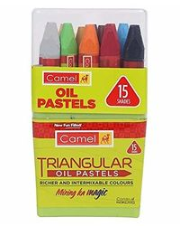 Camel Triangular Oil Pastel 15 Shades