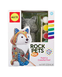 Alex Toys Diy Rock Pets Paint A Colorful Fox, Age 8+