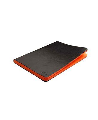 RB-06-A5/PU Black Saffron Orange Plain 192 Pgs