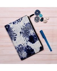 Blossoming Indigo Journal With ZiPPer Pouch, multicolour