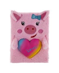 Cuddle Pig Plushnotebook, mix