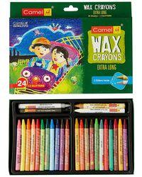 Wax Crayons 1000Xl-24+ Free 2 Glitter Sahdes