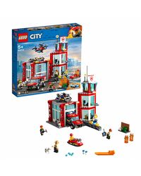 Lego City Fire Station Building Blocks, Age 5+