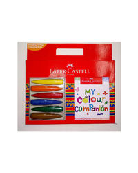 My Colour Companion (6 First Grip Crayons+ 12 Page Colouring Book), mix