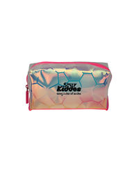 Smily Transparent Cosmetic Pouch Pink, pink