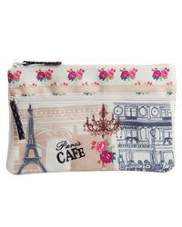 Paris Cafe Two Zip Pouch