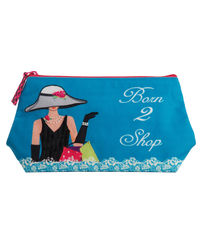 Born To Shop Cosmetic Bag