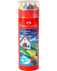 Erasable Crayons 110 mm Set Of 14 Round Tin, mix
