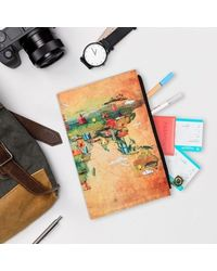 Around The World Journal With ZiPPer Pouch, multicolour