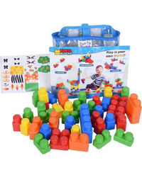 Sunta: Sunta Jumbo Plastic Blocks- 42 Pcs ( In Pvc Reusable Bag) , Age 3+