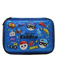 Smily sparkle pencil case - Hip hop Panda- Blue