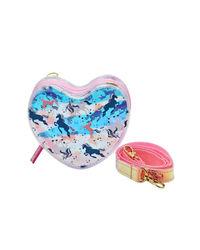 Hamster London Heart Sling Bag Unicorn, pink