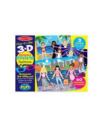 Melissa And Doug Reusable Sticker Pad - Fashions 3D, Age 3+