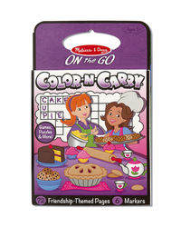 Melissa And Doug On The Go Color-N-Carry Friendship Themed Pages, Age 3+
