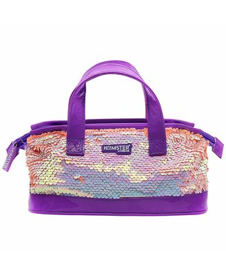 Hamster London shiny sling Bag Aqua, mix
