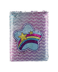 Heart Reversible Sequin Notebook, mix