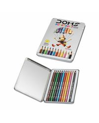 Doms Fsc 12 Colour Pencil Flat Tin