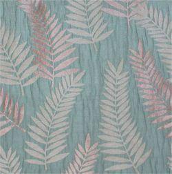 Sonalika Floral Curtain Fabric - 9, blue, fabric