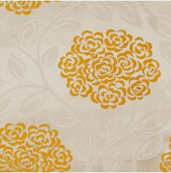 Jewel Floral Curtain Fabric - 17, yellow, fabric