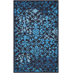 Floor Carpet and Rugs Hand Tufted, The Rug Concept Navy Carpets Online Tbilisi 6035-S, navy blue, 3ft x 5ft