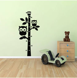 Kakshyaachitra Owls on High Tree Kids Wall Stickers, 11 24 inches