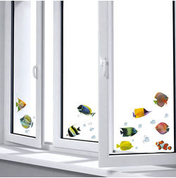Wall Decals Home Decor Line Fishes - 64004