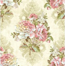Elementto Wallpapers Floral Design Home Wallpaper For Walls ew70301-2, ivory