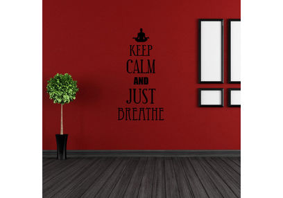 Kakshyaachitra Keep Calm and Just Breathe Wall Stickers For Bedroom And Living Room, 24 36 inches