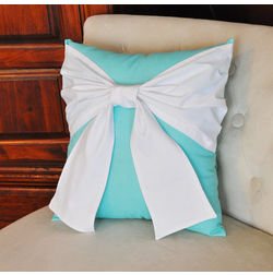 Bow Cushion Cover MYC-51, pack of 1, blue