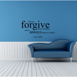 Kakshyaachitra Always Forgive Wall Stickers For Bedroom And Living Room, 24 11 inches