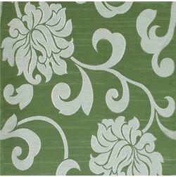 Rangshri Floral Curtain Fabric - 5, green, fabric