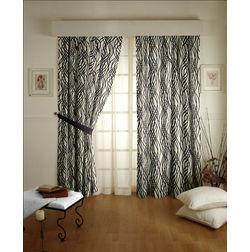 Raindrop Geometric Readymade Curtain - 41, door, purple