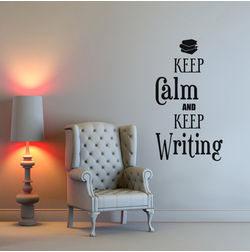 Kakshyaachitra Keep Calm and Keep Writing Wall Stickers For Bedroom And Living Room, 32 48 inches
