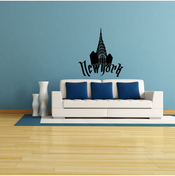 Kakshyaachitra Chrysler New York Wall Stickers For Bedroom And Living Room, 44 48 inches