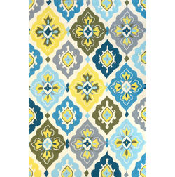 Floor Carpet and Rugs Hand Tufted, The Rug Concept Multi Carpets Online Tbilisi 6052-M, multi, 3ft x 5ft