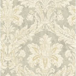 Elementto Wallpapers DaMask Design Home Wallpaper For Walls ew71000, grey