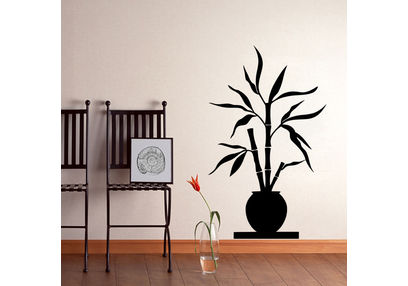 Kakshyaachitra Bamboos in Shibui Wall Stickers For Bedroom And Living Room, 48 79 inches