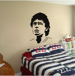Kakshyaachitra Maradona Wall Stickers For Bedroom And Living Room, 48 61 inches