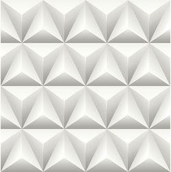 Elementto Geometric Design Modern 3D Wallpaper for Walls - td31000, white