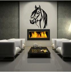 Kakshyaachitra The Horse Head Wall Stickers For Kids Room, 18 24 inches