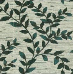 Raindrop Floral Curtain Fabric - 37, green, fabric