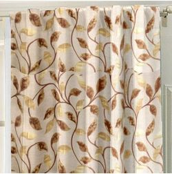 Emporio Floral Readymade Curtain - OSC703, window, beige