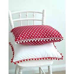 Set of 2 Cushion Cover MYC-62, pack of 2, red